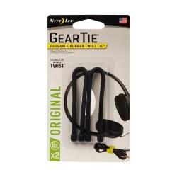 6 in. Gear Tie in Black (2-Pack)