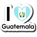 Guatemala I LOVE Guatemala 00005 decal