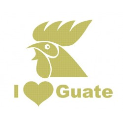 Guatemala I LOVE Guate Gallo 000013 decal