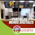 Digital menus and screens