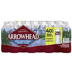 Arrowhead Mountain Spring Water, 16.9 fl oz, 40-count