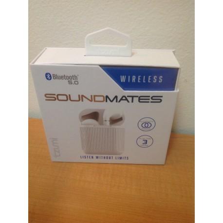 NEW tzumi SoundMates Wireless Bluetooth 5.0 Earbuds - White